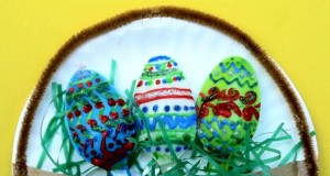 Use colorful plastic spoons to decorate as Easter Eggs.
