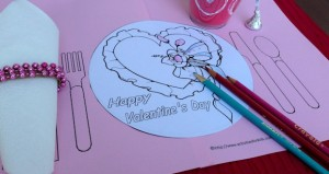 Valentine's Day Printable Placemat