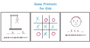 photo about Printable Hangman identified as Printable Online games for Children - printouts for alternate online games