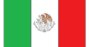 Mexican Flag coloring Page Craft for Kids.
