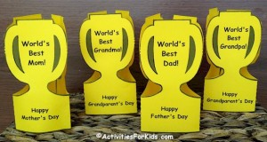 World's Best Trophy for mom, dad, grandma, grandpa