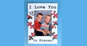 I Love You to Pieces Puzzle Piece Frame