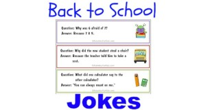 Printable Back to School Jokes for kids.