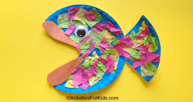 & Easy Paper Plate Fish Craft