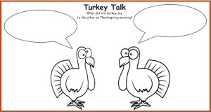 Thanksgiving cartoon for kids to create.