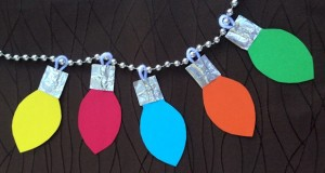 Christmas Lights Garland printable craft for kids
