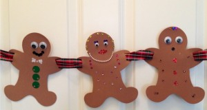 Gingerbread Family project.  Gingerbread man printable template