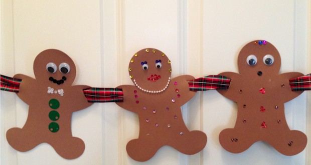 gingerbread family garland