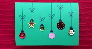 Holiday Ornament Card preschool project