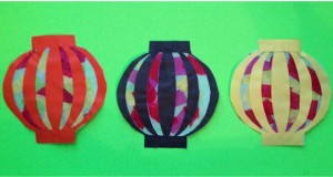 Chinese Paper Lantern Sun-catcher craft for kids