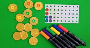 Gold Candy Coin Memory Game for Kids on St. Patrick's Day