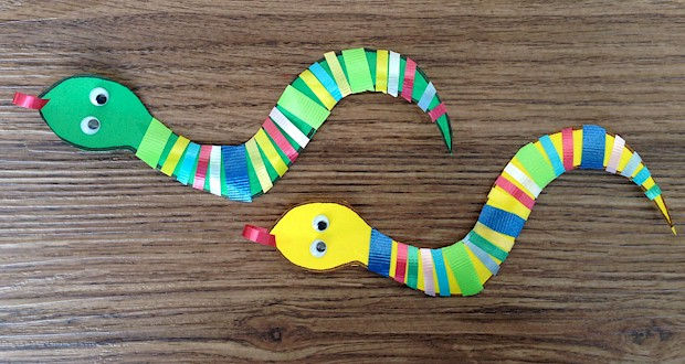 ribbon snake craft for kids