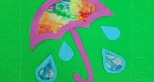 April Showers Bring May Flowers printable craft for kids