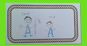 All about my dad.  Kids write about their dad in this Father's Day card.