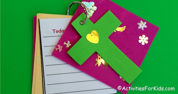 Child's Prayer Journal craft for kids includes printable pages.