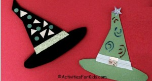 Halloween Craft for kids - Witches Hat includes printable from Activities For Kids.