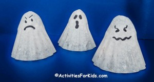 Easy Holiday Crafts - Halloween Coffee Filter Ghosts!  Boo to YOU!