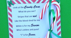 Legend of the Candy Cane printable for kids.