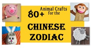 Chinese Zodiac Crafts for kids.  Animal crafts to celebrate the Chinese New Year.
