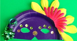 Paper Plate Masks - Mardi Gras crafts for kids.