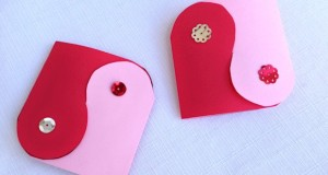 Yin Yang Valentine Card Pattern - Valentine's Day Activities for Kids