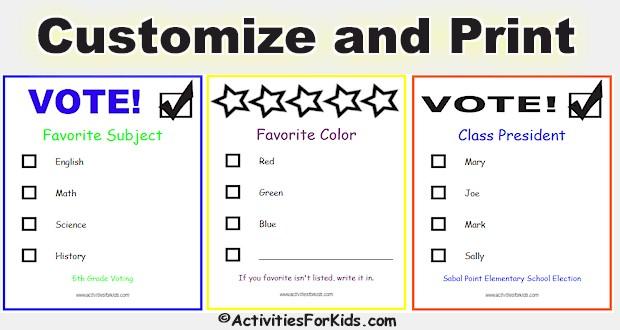 printable voting ballots for kids