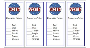 Free printable voting ballot bookmarks for your classroom.