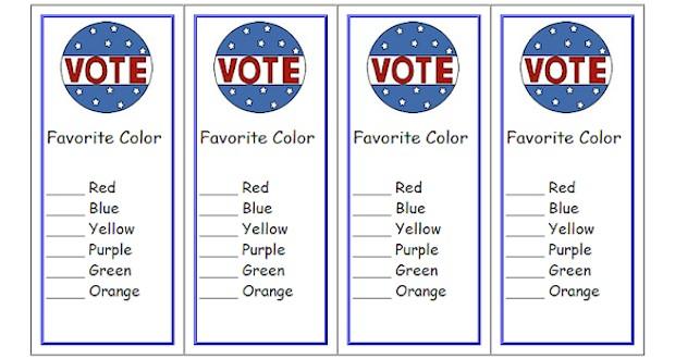 free voting ballot bookmarks classroom printable
