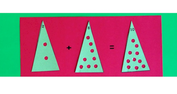 Christmas Tree Math printables from Activities For Kids.