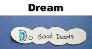 Dream Cloud Activity for kids to celebrate Martin Luther King Jr Day