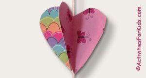 Hanging Friendship Hearts children's craft