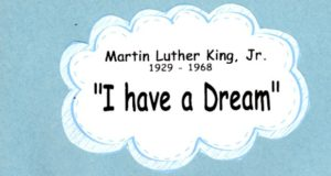 I Have A Dream classroom activity for Martin Luther King, Jr. Day.