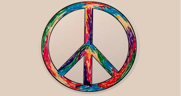 Peace Symbol printout from Activities For Kids