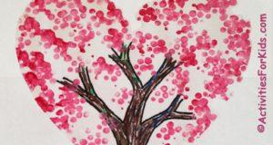 Valentine Tree Art Craft for Kids