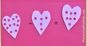 Valentine Heart Math Activity for Kids