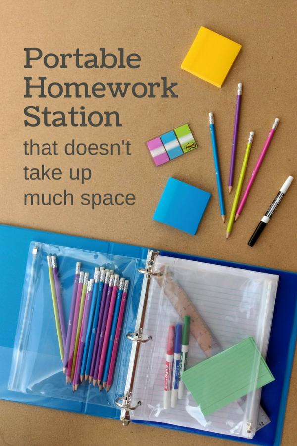 Homework Station Binder