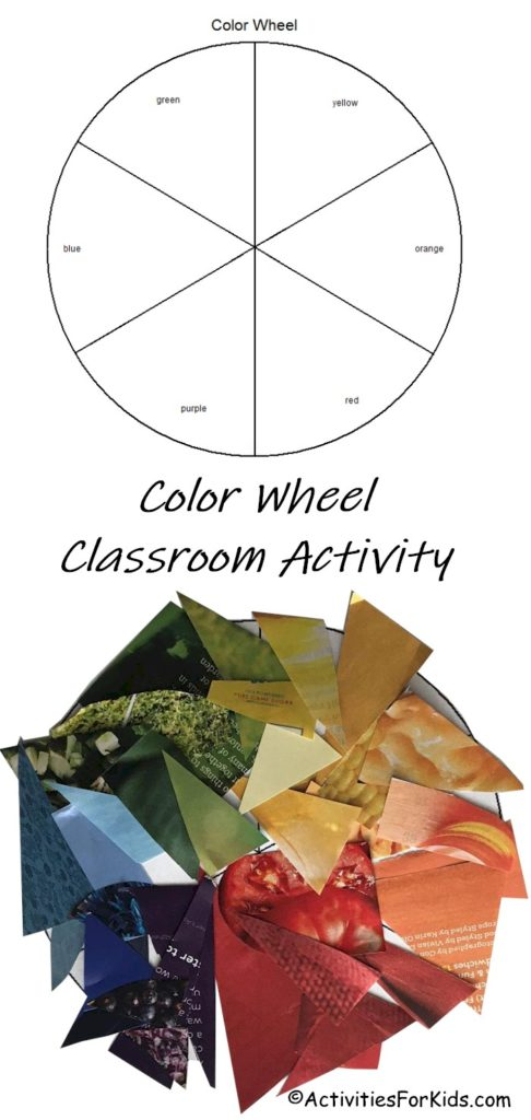 Easy color wheel classroom activity.  Learn about primary and secondary colors.