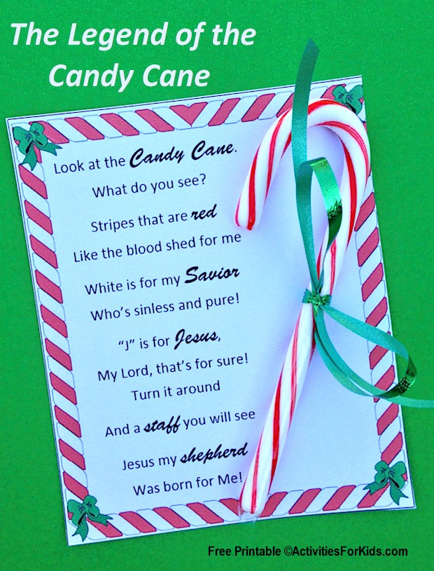 Legend of the Candy Cane Printable